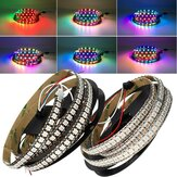 DC5V 2M WS2812B 144LED / M 12MM Largura IP20 Branco / Preto Board Individual Endereçável RGB LED Light Strip