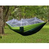 Tela de acampamento dobro do paraquedas da rede 300kg portátil com rede de mosquito