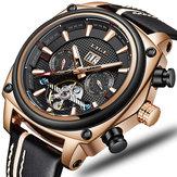 LIGE9921RectangleDialLuminousDisplay Hommes Montre-bracelet