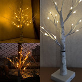 60cm Warm White LED Birch Twig Tree Night Light Table Lamp Home Party Wedding Christmas Holiday Decoration