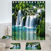 180 x 180cm Cortina de chuveiro Tapetes antiderrapantes Cachoeira Estilo Banheiro Tapete de banho