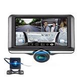 360 ° Panorama FHD 1080P Gece Görüş Parlama Önleyici Dokunmatik Araba DVR Otomatik Döngü Kayıt Park Monitör Arka Kamera ile Mikrofon'de Dahili