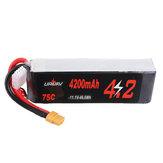 URUAV 11.1V 4200mAh 75C 3S Lipo Батарея XT60 Разъем для RC Racing Дрон