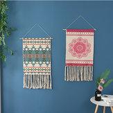 Tapestry Macrame Wall Hanging Chic Bohemian Home Room Decoration Geometric Art Mat