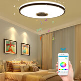 60W Modern Dimmable LED RGBW Bluetooth Music Ceiling Light APP Remote Control