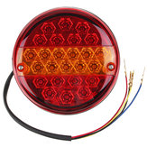 12V/24V 20LED Hamburger Rear Tail Stop Indicator Lights Round For Trailer Truck Caravan Van ATV Bus