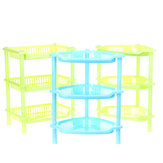 3 Tiers Plastic Corner Organizer Bathroom Caddy Shelf Kitchen Desktop Storage Rack Holder