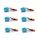 6 PCS CYS-S0006 1.2kg Analog 6g Micro Servo For F3P KT RC Airplane Mini Aircraft