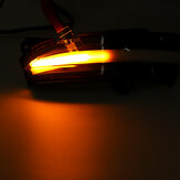 2pcs luci dinamiche sequenziali LED per auto indicatori di direzione luci laterali lampeggianti specchio per Ford Mondeo Fusion 2013-2018