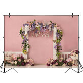 5x3FT 7x5FT 9x6FT Pink Wall Rose Flower Decor Photography Backdrop Background Studio Prop
