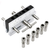 Metric/Inch Woodworking Self-Centering Hole Punch Locator Drill Guide Set Doweling Jig Kit