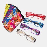 Women Men Unisex Multi-colored Square Frame Reading Glasses