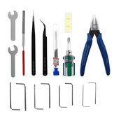 TWO TREES® 25-Piece Tool Kit Screwdriver Wrench Set Tweezer Pliers Cleaning Needles for Cleaning Removing Finishing Multifunctional Tools Kit for 3D Printers