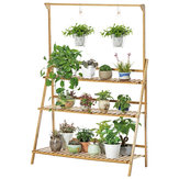 Plant Stand Flower Pot Display Multi-layer Shelf with Hanging Rod Plants Rack Holder Organizer