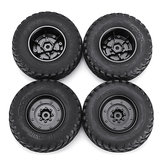 4PCS Rims & Tires RC Car Wheels for HG P408 1/10 RC Car Spare Parts 4ASS-PA008