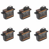 6PCS Emax ES9051 4.3g Mini servo digital para modelo RC