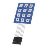 5 pcs 4 x 3 Matriz Matriz 12 Tecla Teclado Membrana Selada 4 * 3 Botão Pad com interruptor de etiqueta