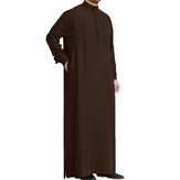 Mens Saudi Style Thobe Dishdash Jubba Arab Robe Islamic Clothing Long Maxi Dress