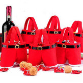5/10 Christmas Santa Pants Candy Gift Bag Sweet Sack Holder Stocking Filler
