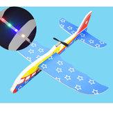 Elektromos EPP kézidobó habrepülő repülőgép rotációs repülőgép modell repülőgép játék LED-es fénnyel