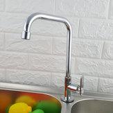 360 ° Rotatie Kraan met één gat Wastafel Koudwater Mengkranen Keukengereedschap