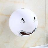 An der Wand befestigter netter Karikatur-Gesichts-Badezimmer-Toilettenpapier-Tissue-Kasten-Rollenhalter