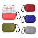 Bakeey Liquid Silicone Shockproof Anti-drop Earphone Storage Case with keychain for Apple Airpods 3 Airpods Pro 2019