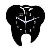 Emoyo ECY056 Dente forma parede Relógio parede de quartzo Relógio parede 3D Relógio para decorações de escritório em casa