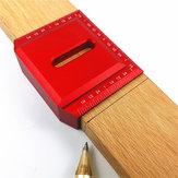 Aluminium Alloy 2-1 / 2 Inch 90 Derajat Pelana Persegi L Bentuk Sudut Kanan Menandai Penguasa Woodworking Scribe Penguasa ...