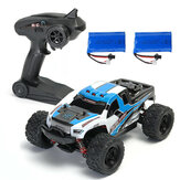 2 بطاريات رواية HS 18301/18302 1/18 2.4G 4WD Big Foot RC Car Off-Road RTR Toys