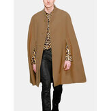 Mens New Mid Long Cloak Han Style Batwing Collar Fur Coats