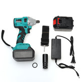 880N.m 68000H Cordless Brushless Electric Impact Wrench Rattle 2x Battery