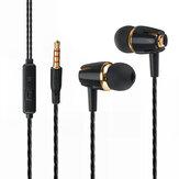 S9 3.5mm Wired Control In-Ear Auricolare Auricolari Cuffie musicali stereo con microfono