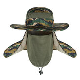 AOTU Camouflage Fishing Hut Einstellbare Anti UV Anti Mosquito Mesh Maske Camping Hunting Neck Cover Schutzkappe