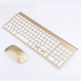 2.4G Wireless Mini Ultrathin Keyboard and Mouse Set for PC Computer