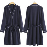 Novo Soft Roupão de banho Spa Robe Unisex Womens Mens Wrap Nightwear Bathrobe