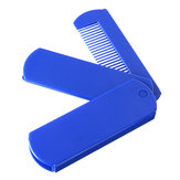 2 In 1 Foldable Mirror Comb Plastic Beard Hair Brush
