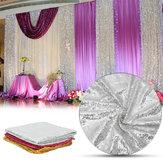 300x130 cm Sparkle Pullu Masa Örtüsü Perde sevgililer Günü Ayıklaması Süslemeleri Için