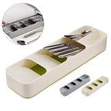 سطح المكتب المنظم علبة مطبخ درج منظم علبة فصل التشطيب تخزين مربع ملعقة شوكة السكاكين الفضيات