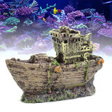 Akvarium Ornament Wreck Fish Tank Cave Sejlbåd Sunk Ship Destroyer Decorations