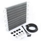 4-10 rangées en aluminium Racing climatiseur tube condenseur moteur transmission kit refroidisseur d'huile pour voiture universelle
