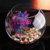 Yuvarlak Temizle Cam Vazo Balık Tankı Topu Kase Çiçek Ekici Teraryum Ev Dekor