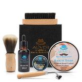 6 in 1 Men Gent's Beard Grooming Kit Beard Shampoo Oil Brush and Comb Gift Set