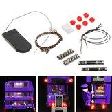 DIY LED Kit de cordas leves para LEGO 75957 Knight Bus Building Decor Festa de Natal