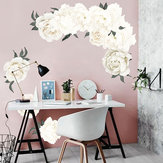 PVC Fresh Peony Flower DIY Etiqueta de la pared Sala de estar Mural Decal Home Decoraciones de arte