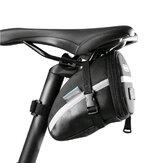 Correia de Couro 1.2L Sela de Bicicleta Portátil Bolsa Bolsa de Assento de Ciclismo Saco de Cauda de Bicicleta Pannier Traseiro