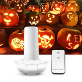 Remote Control Battery Powered 2 Modes Lotus Flower 102LED Flickering Flameless Halloween Candle Night Light
