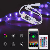 DC5-24V RGBW bluetooth Dimmer Controller 24Keys IR Remote Control for LED Strip Light