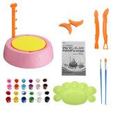 Roda de cerâmica elétrica Cerâmico máquina infantil faça você mesmo Cerâmico ferramenta de arte para fazer argila brinquedo