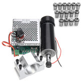 Machifit ER11 500W Spindle Motor with 52mm Clamp and Speed Governor + 15pcs ER11 1-7mm Spring Collet Set